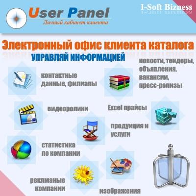 User Panel - электронный офис в каталоге организаций